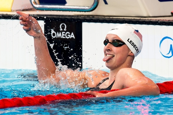 XVI FINA World Championships Aquatics Swimming LEDECKY USA