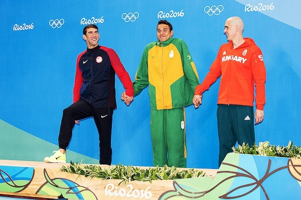 phelps-leclos-cseh_Rio2016 Olympic Games