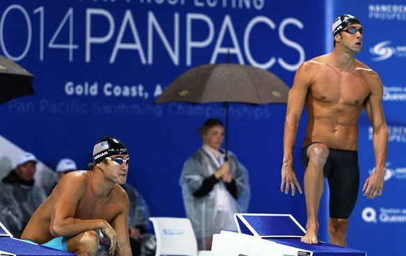 Nathan Adrian_michael Phelps Australia Pan Pacs Swimming