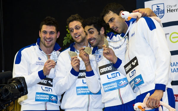 4x50 freestyle men Italy ITA SILVER MEDAL