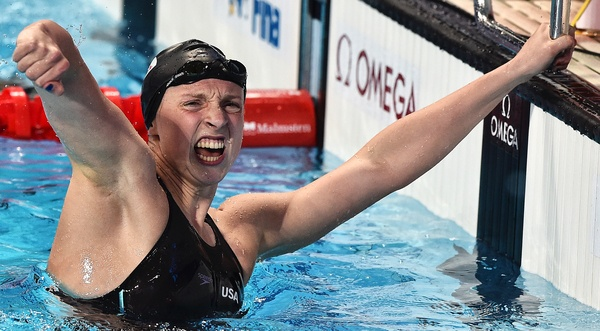 LEDECKY Katie USA Gold Medal, World Record Women's 800m Freestyle