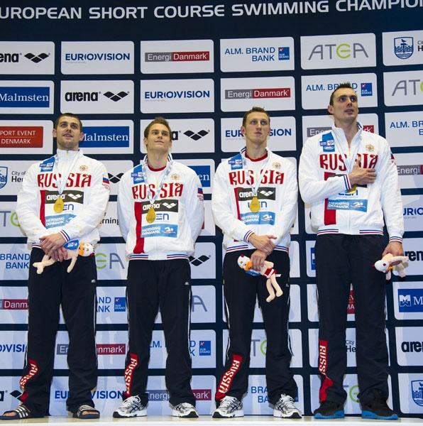 4x50 freestyle men Russia RUS gold medal World Record 1:23.36
